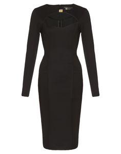 Kardashian Cut Out Bodycon Dress in Black