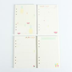 Creative cute summer series 6 holes spiral notebook refiler inner paper core:grid,can tear,weekly planner,daily planner A5 A6-in Notebooks from Office & School Supplies on Aliexpress.com | Alibaba Group