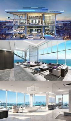 florida luxury homes real estates 15 best decoration ideas – Page 2 of 5 – Florida luxury waterfront condo Florida Luxusimmobilien Immobilien 15 besten Deko-Ideen – Seite 2 von 5 – Florida Luxus Waterfront Condo Dream Home Design, Modern House Design, Luxury Penthouse, Luxury Condo, New York Penthouse, Penthouse Apartment, Dream Mansion, Luxury Homes Dream Houses, Modern Mansion