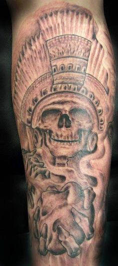 Aztec Skull Tattoo Design | Tattoobite.com