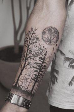 Wald Unterarm Tattoo – Fantastische Unterarm Tattoos – Tattoo Muster – small tattoo with meaning Wald Tattoo, Tattoo Dotwork, Forarm Tattoos, Alien Tattoo, Body Art Tattoos, Tattoo Tree, Tree Sleeve Tattoo, Man Arm Tattoo, Nautical Tattoos