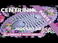 Crochê - DIY Centrinho de crochê - Modelo abacaxi duplo [PT-BR] - YouTube