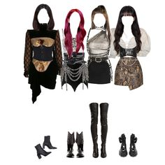 Kpop Fashion Outfits, Blackpink Fashion, Stage Outfits, Looks Style, My Style, Burgundy Homecoming Dresses, Bts Memes Hilarious, Stay Wild, Aesthetic Hair