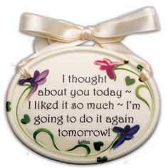 Wall Plaques: Thinking Of You Plaque  10% off gifts that tell your Valentine gals how you feel!  Great gifts for mom, daughter, sister, girlfriend, etc.    www.femailcreatio...  Use Promo Code:  1DSF174F  #UniqueGifts #GiftsForWomen #Gifts #GiftsForAllOccassions #InspirationalGifts #ValentinesDay #ValentinesDayGifts