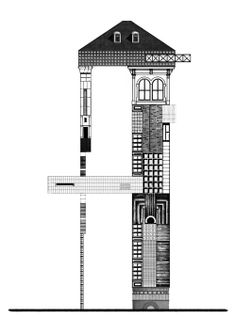 PROPOSAL FOR A SOCIAL CONDENSER 013  #architecture #drawing Pinned by www.modlar.com