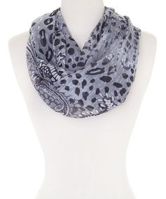 Look what I found on #zulily! Gray Honeycomb Infinity Scarf #zulilyfinds
