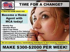 Hiring again. Weekly pay