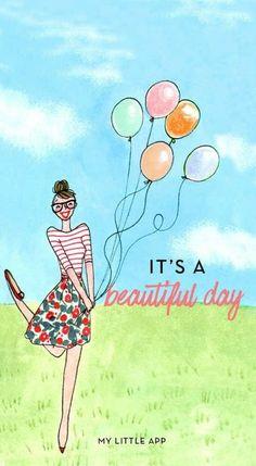 Illustration by Kanako Kuno - Valentines Day Balloon Illustration, Cute Illustration, Birthday Wishes, Happy Birthday, Little App, My Little Paris, Journal Cards, Female Art, Cute Wallpapers