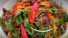 Kim & Suong's Asian Beef Salad - My Kitchen Rules Vietnamese Recipes, Asian Recipes, Ethnic Recipes, Vietnamese Food, Sibas Table Recipes, Thai Beef Salad, My Kitchen Rules, Asian Beef, Just Eat It