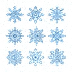 Snowflakes, Vector, New Year'S Eve