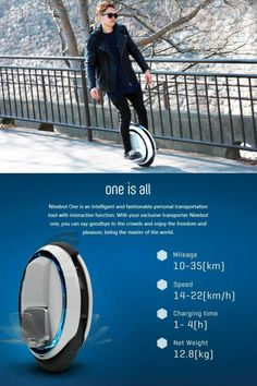 Ninebot One E+ /One C - electric unicycle free ship from US with warranty E Electric, Electric Scooter, Unicycle, Virtual Fashion, Entry Level, Social Media, Technology, Ebay, Electric Moped Scooter