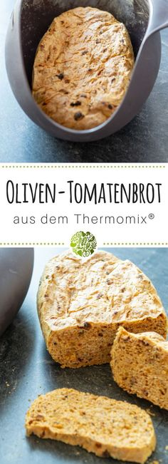 Olive tomato bread from Thermomix® - will-mixen.de - Bake fine bread with the Lékué bread pan and your Thermomix - Pan Bread, Bread Baking, Pain Aux Olives, Tomato Bread, Marsala Recipe, Best Dinner Recipes, Baking Cupcakes, Baking Supplies, Cinnamon Cream Cheeses