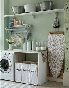 Have small laundry room? Got a boring laundry room? Need small laundry room design ideas? Don't worry, we're here to help you. Home Organization, Room Design, Laundry Mud Room, Room Organization, House Styles, New Homes, Laundry Room Inspiration, Room Inspiration, Laundry