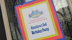 Imagination Movers Birthday Welcome Sign!