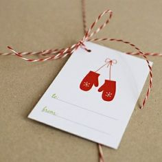 Wrap Christmas packages with kraft paper and bakers twine