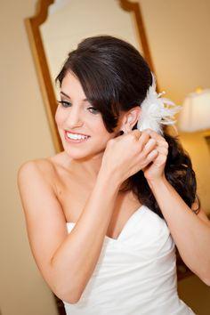 bride getting ready, bridal hairstyle, bridal hair and make up, Las Vegas wedding