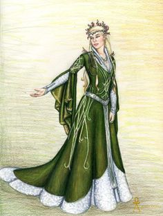 "The Lady of the Green Wood by MyWorld1.deviantart.com on @deviantART - From ""Lord of the Rings""/""The Hobbit"". She's an OC, but would have been Thranduil's wife and Legolas' mother."