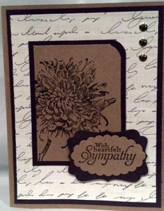 Great Sympathy Card by Pschultz1964 - Cards and Paper Crafts at Splitcoaststampers