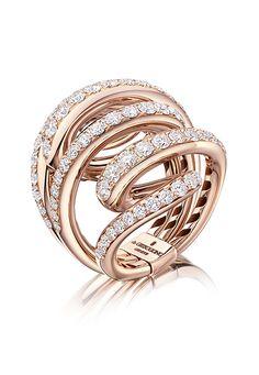 Anello in oro giallo e diamanti Collezione Vortice di De Grisogono,