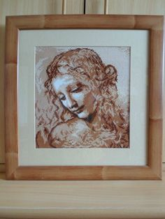 RIOLIS COUNTED CROSS STITCH - THE HEAD OF A WOMEN BY LEONARDO DA VINCI 19x18inch