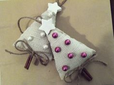 Burlap Cinnamon Stick Little Christmas by SeasonsChangeCrafts, $10.00