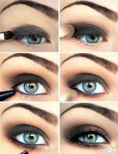 Pretty dark eye makeup  Everybody should know how to do this! Otherwise ask me :p