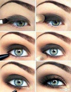 Pretty dark eye makeup