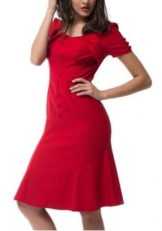 Maxfancy Fashion New Arrival America New Spring Fashion Office Lady Short-Sleeved Dress