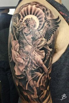 Imagini pentru carlos torres st michael tattoo