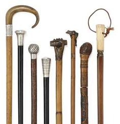 A COLLECTION OF WALKING STICKS  18TH CENTURY AND LATER