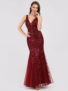 2d7f45830e85f Women's Double V-Neck Sleeveless Mermaid Dress Evening Maxi Dress | Ever- Pretty #