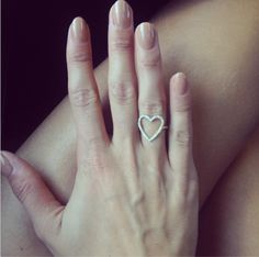 Millie Mackintosh wearing our Blee Inara heart ring