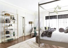 It doesn't have to be an entire étagère-full, as seen in this bedroom by LA-based designer Kelly Sutton, but a cluster of pieces that make you smile will go a long way, especially in making a bedroom feel just right. Bonus: This is also a great way to incorporate pieces you've acquired over the years but can't quite figure out where to put them. Make sure they're in your line of sight upon waking up and their true purpose will be revealed: Making you happy.   - Veranda.com