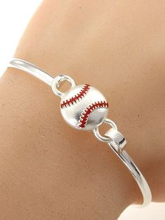 I really want this Baseball Bracelet! Baseball Scores, Baseball Tips, Better Baseball, Baseball Mom, Baseball Field, Baseball Stuff, Baseball Season, Baseball Savings, Baseball Training