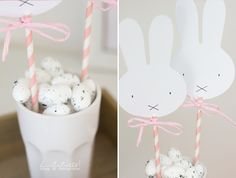 DIY / Ruckzuck-Miffy Easter Decoration (Lililotta) You are in the right place for rustic home decor When it comes to designing your dream home, the fi 3 Year Old Birthday Cake, Bunny Birthday, Girl First Birthday, Happy Birthday Me, First Birthday Parties, First Birthdays, Birthday Decorations, Baby Shower Decorations, Bunny Party