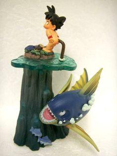 DRAGON BALL Figure MEGAHOUSE capsule diorama genuine JAPAN GOKU naked GIANT FISH