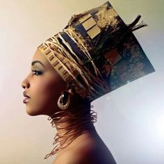 Beautifully wrapped and adorned head dress. | via YesterdayandKarma tumblr