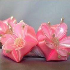 artesanato flor de cetim
