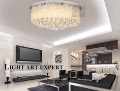 Crystal Lamps Modern Minimalist Fashion Ceiling Lights Bedroom Living Room Lighting Dining Room Lights5708
