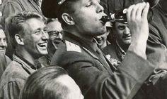 Юрий Алексеевич Гагарин в Копенгагене 1962 г.