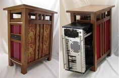 Arts & Crafts Style Meets the Computer Age.  Thinking that I could have the kids in the woodshop build it for me.