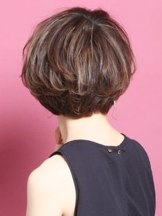 Pin on ボーイッシュ Bob Hairstyles For Fine Hair, Thin Hair Haircuts, Short Bob Haircuts, Elegant Short Hair, Asian Short Hair, Shot Hair Styles, Long Hair Styles, Hair Job, Natural Wavy Hair