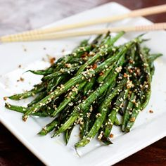 Flavorful and healthy Sesame Garlic Green Beans