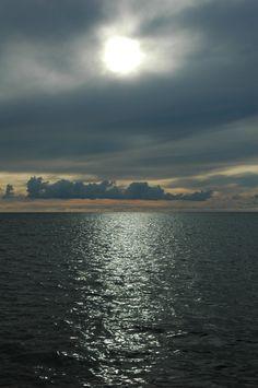 Sun, clouds and sea...