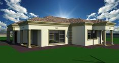 Home Design Plans, Plan Design, My House Plans, Bungalow House Design, Custom Homes, Architecture Design, New Homes, How To Plan, Mansions