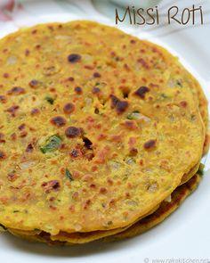 missi-roti by Raks Veg Recipes, Indian Food Recipes, Vegetarian Recipes, Cooking Recipes, Appetiser Recipes, Easy Recipes, Recipies, Snack Recipes, Roti Recipe Easy