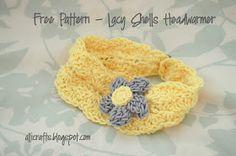 Alli Crafts: Free Pattern: Lacy Shells Headwarmer - Kid Size