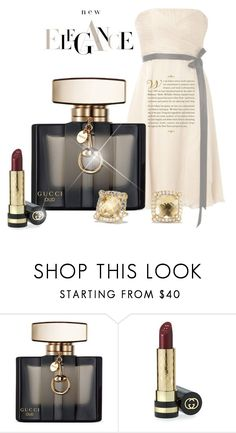 """Elegance"" by stileclassico ❤ liked on Polyvore featuring beauty, Gucci and David Yurman"