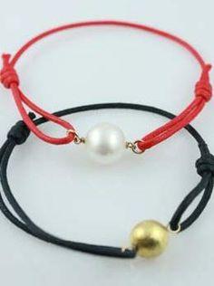 Randi Elyse Pearl On Cord Leather Bracelet.