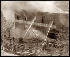 November Firemen extinguishing a blaze at the Piggly Wiggly, location not specifie Vintage Photographs, Vintage Photos, Piggly Wiggly, Photography Sites, Less Is More, High Resolution Photos, Photo Archive, Hd Images, Clean Up